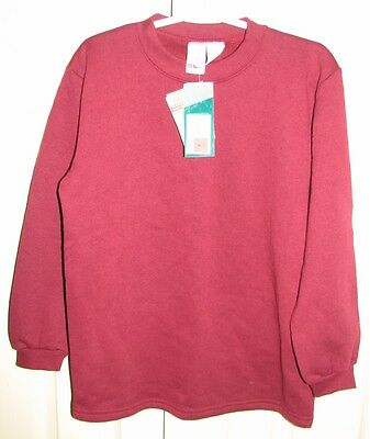 BNWT sz8 maroon fleece school top