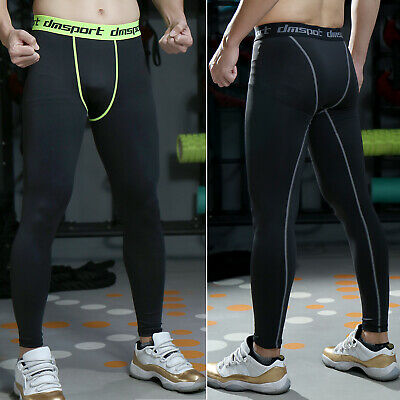 Men Compression Thermal Underwear Pants Tights Workout Base Layers Skins Fitness