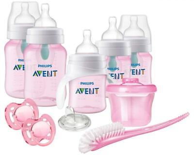 Philips Avent Anti-Colic Baby Bottle with AirFree Vent Beginner Gift Set Pink