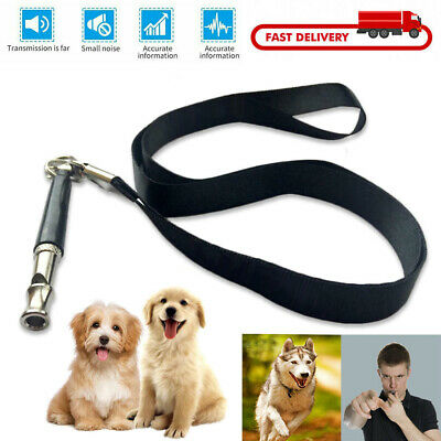 Dog Whistle Puppy Training Ultrasonic Pitch Sound Adjustable Lanyard Key Chain U