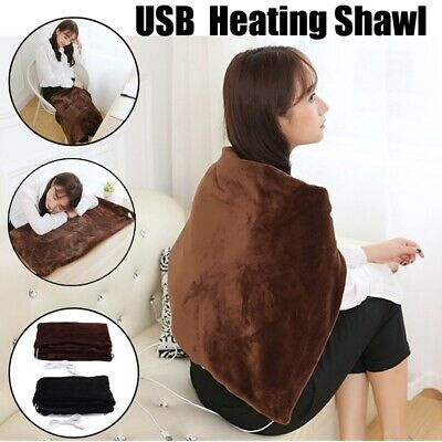 Home Electric Warming Heating Blanket Pad Shoulder Neck Heating Shawl USB Warm