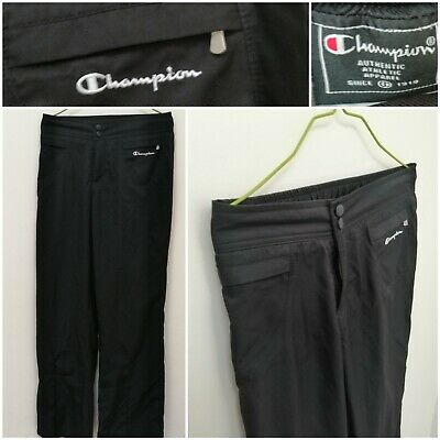 Vintage Champion Sportswear Tracksuit Trousers Stretch Black Flaired Size Medium