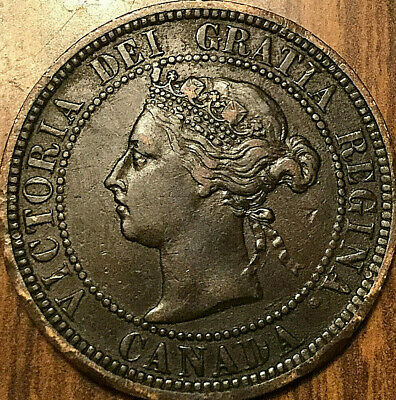 1887 CANADA LARGE CENT 1 CENT PENNY - Nicer example!