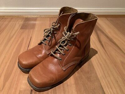 WW1 British Army B5 Brown Leather Low Boots