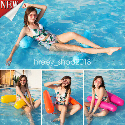 Inflatable Floating Water Hammock Bed Float Pool Lounge Swimming Chair Summer UK
