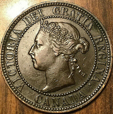 1896 CANADA LARGE CENT 1 CENT PENNY - Far 6 variety