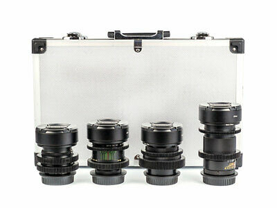 Set of 4 Anamorphic Flare & Bokeh Amber Lenses for Filmmakers with Canon EF