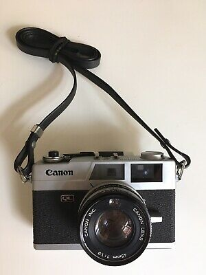 Vintage Canon Canonet QL19 35mm Rangefinder Camera Lens Cap & Part Case