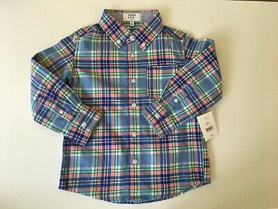 Toddlers Crown & Ivy Kids Flannel Shirt Size 3T Plaid Long Sleeve NWT $28 Boys