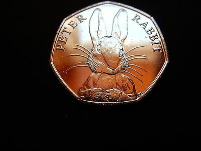 PETER RABBIT 50p COIN 2016 x 1 - RARE FIFTY PENCE BEATRIX POTTER SET 11 whiskers