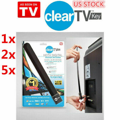 As Seen on-TV Clear TV Key HDTV FREE TV Digital Indoor Antenna Ditch Cable