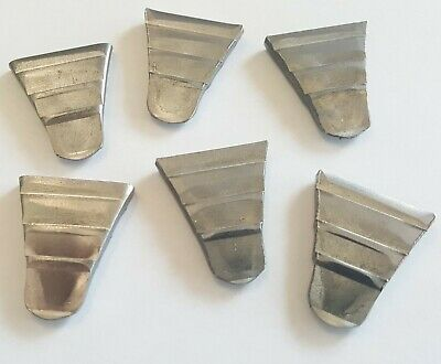 """6 Pack Lot 15/16"""" Ribbed Steel Wedges Wooden Hammer Handles Sledge Drilling Axe"""