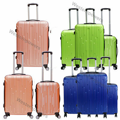 3PCS Luggage Set 20'' 24'' 28'' ABS Carry On Travel Bag Trolley Suitcase