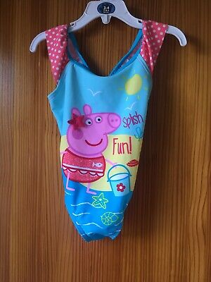 Girls New Tags Peppa Pig Swimsuit Swimming Costume Age 4-5 Pink