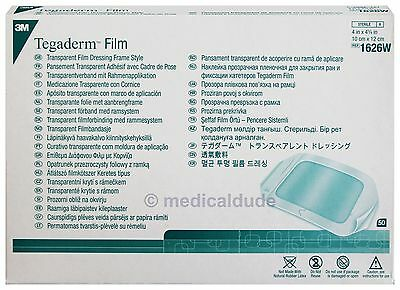 "3M 1626W Tegaderm Transparent Dressing 4"" X 4 3/4"" - 4 Boxes of 50 - EXP 07/2020"