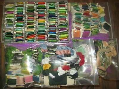 Huge Over 300 Pieces DMC Embroidery Cross Stitch Floss Lot S10
