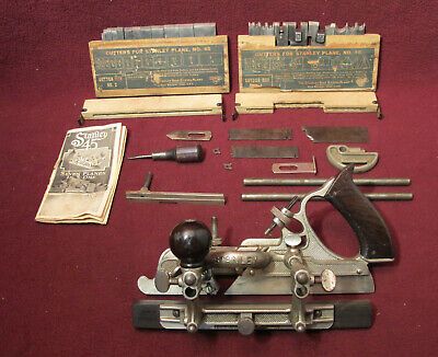 Stanley No. 45 SW Combination Plane w/ 27 Cutters, Sweetheart. 1957 Manual