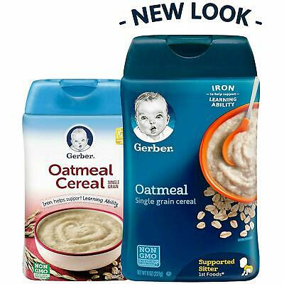Gerber Single-Grain Oatmeal Baby Cereal, 8 oz (Pack of 6) NON GMO