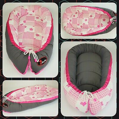Baby nest pod cocoon infant sleep reversible REAL PATCHWORK QUALITY