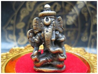 Lord Ganesha Hindu King Elephant Lucky Thai Amulet Best Charm Wealth Success 999