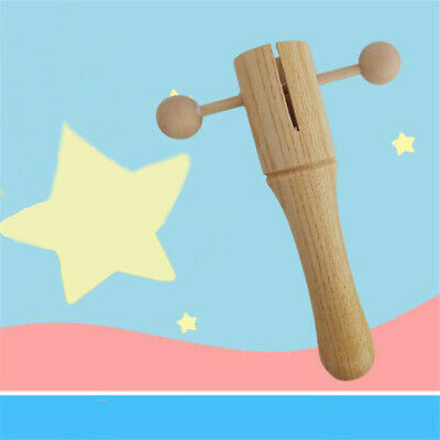Wooden Hand Bells Childrens Musical Instrument Jingle Stick Christmas Gifts H