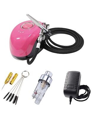 ABEST Professional Mini Airbrush Compressor Kit with 0.4mm 2cc Dual Action