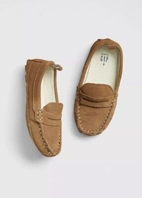 Gap Baby Boy Toddler Loafers Moccasins Shoes Tan Brown Suede Size US 6 / EU 23