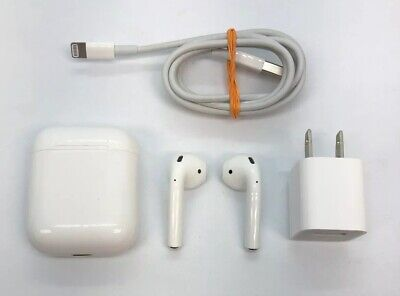 Apple AirPods White Wireless Bluetooth In-Ear Earbuds Headsets w/ Charging Case