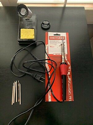 Craftsman Soldering Iron, 45 watt + Holder and Cleaner + 6 Tips