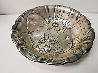 Vintage Wallace Sterling Silver Candy Dosh Bowl 123