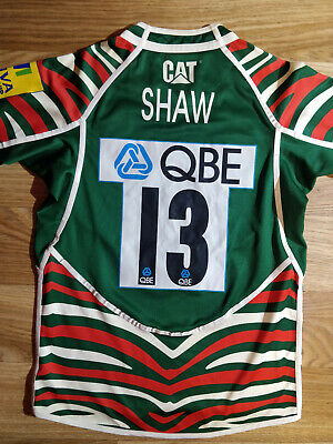 Canterbury Shaw #13 Leicester Tigers Rugby Shirt Caterpillar Jersey Top