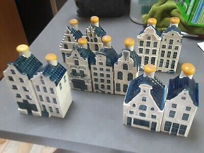 KLM Blue Delft House Decanter set of 11 -  KLM  Bols from around 1994-1996