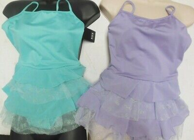 BLoch Cl8227 Girls Dance Dress 2 colors large child ruffled glittered tulle