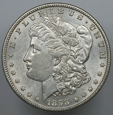 Better About Uncirculated 1898-S Morgan Silver Dollar Au $1  (1)