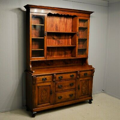 Solid Oak Welsh Dresser with Drawers Cupboards Shelves for Plates Delivery Avail
