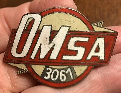 Vintage Bus Taxi Hat Badge Pin-OMSA 3061-Cuba 1950's