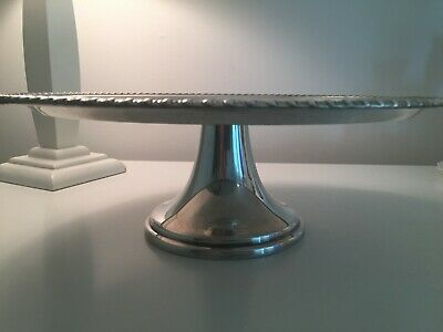 WM Rogers Silver Plate Cake Stand 842 Pedestal 12.5""