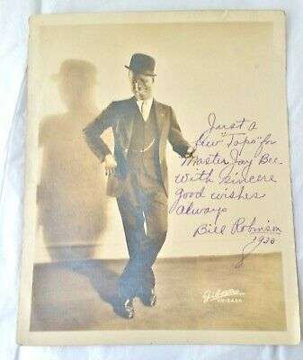 "Bill ""Bojangles"" Robinson Photo Inscribed to Child Star Master Jay Bee Autograph"