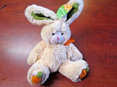 New W/Tags! Cute March of Dimes Beenie Easter Bunny Rabbit Carrot Feet Plushland