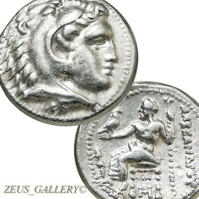 ALEXANDER the Great RARE Lifetime Drachm XF Herakles Ancient Greek Silver Coin