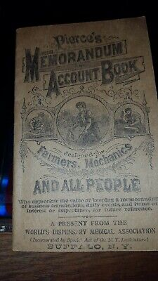 Antique Mini Booklet - Pierce's Memorandum & Account Book (b) - 1893