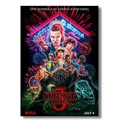 "Stranger Things Season 3 Paper Print Poster Home Decor Poster-16.5*11.8"" Popular"