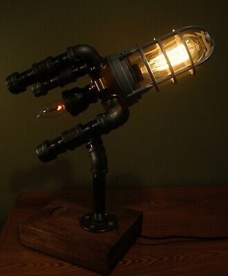 Steampunk Apollo 11 Lunar Lander Lamp with 50th Anniversary Commemorative Coin