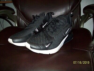 Nike Air Max 270 AH8050-002 Black/Anthracite/White Size 12 Men's Running Shoes