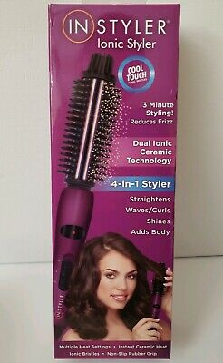 Dual Ionic Ceramic Hot Brush Styler Cool Touch Bristles Technology Heavy Duty