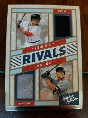 2019 Leather And Lumber Mookie Betts Aaron Judge Rivals Dual Relic /199 #RM-MA