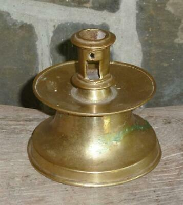 16th, 17th Century C Brass Capstan Candlestick Early Antique Lighting Spanish