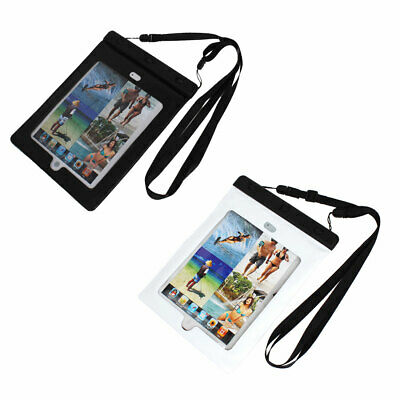 Waterproof Pouch Bag Case for iPad Air 2 w Neck Strap Earphone