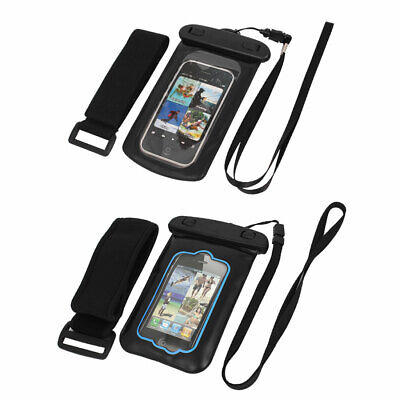 "Waterproof Case Dry Bag Skin Cover Pouch + Earphone Stopper for 3.5"" Cell Phone"