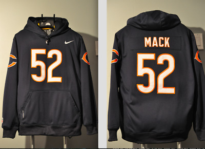 san francisco 1596d c4a79 KHALIL MACK CHICAGO Bears Jersey NFL Hooded Sweatshirt Embroidered Hoodie